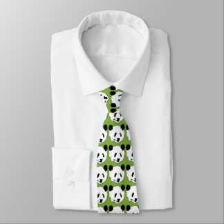 Giant Panda Bear Face Tie