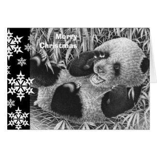 Giant Panda Cub Christmas Card