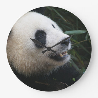 Giant Panda in Bamboo forest Large Clock