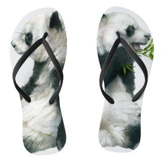 Giant Panda Pair Flip Flops