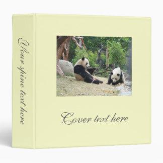 Giant pandas vinyl binder