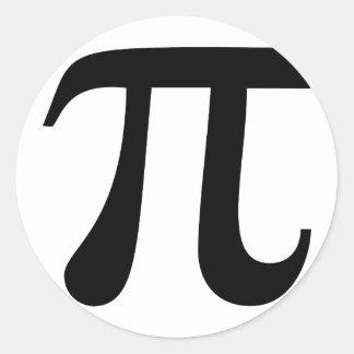 "Giant ""Pi"" Symbol Classic Round Sticker"