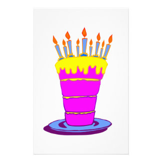 Giant Pink Birthday Cake Full Color Flyer