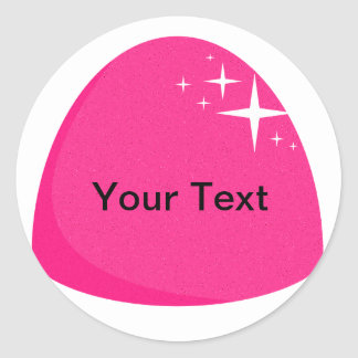 Giant Pink Gumdrop Sticker Candy Buffet Label
