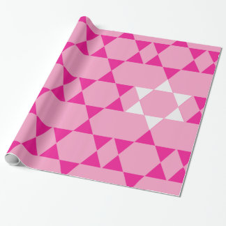 Giant Pink Jewish Stars Wrapping Paper