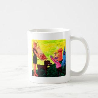 Giant, Pizza, Dog and Cow Coffee Mug