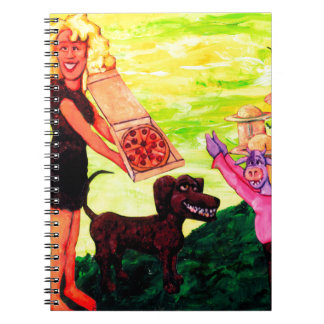 Giant, Pizza, Dog and Cow Notebook