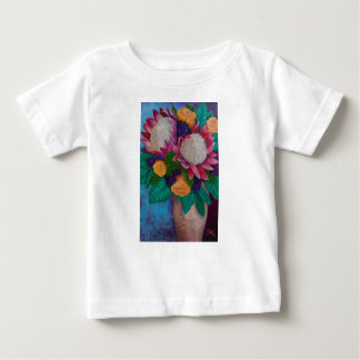 Giant Proteas and Orange Roses Baby T-Shirt