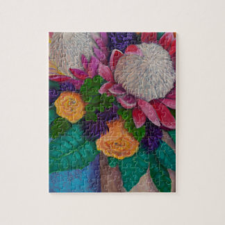 Giant Proteas and Orange Roses Jigsaw Puzzle