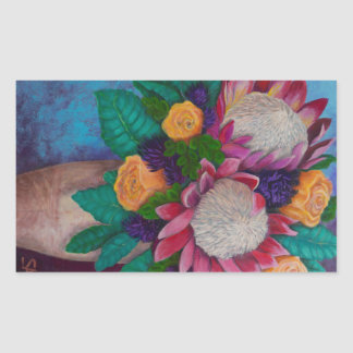 Giant Proteas and Orange Roses Sticker