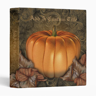 "Giant Pumpkin 1"" Personalized Binder"