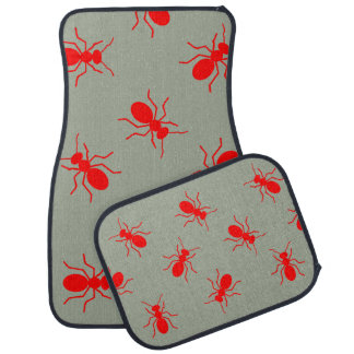 Giant Red Fire Ants Swarm Novelty Car Floor Mats Floor Mat