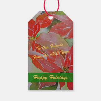 Giant Red Poinsettias Gift Tags