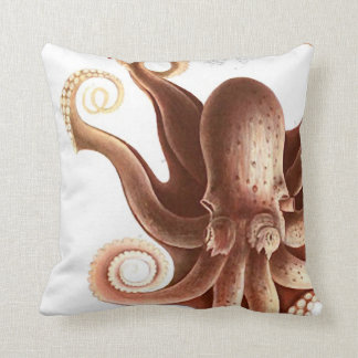 "Giant Red Squid/Octopus Nautical Theme 20"" Pillow"
