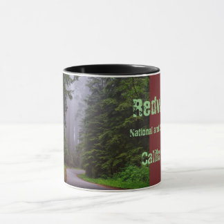Giant Redwood Trees, Winding Road, National Park Mug