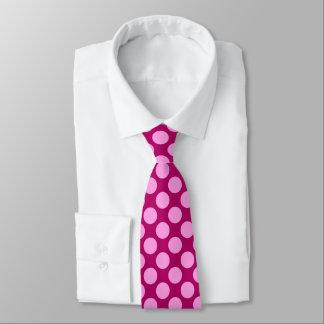 Giant retro dots - Berry pink Tie