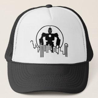 Giant Robot Skyline Trucker Hat