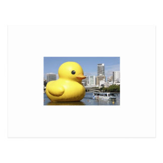 giant rubber ducky postcard