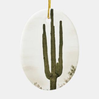 Giant Saguaro Sonoran Desert Portrait Ceramic Ornament
