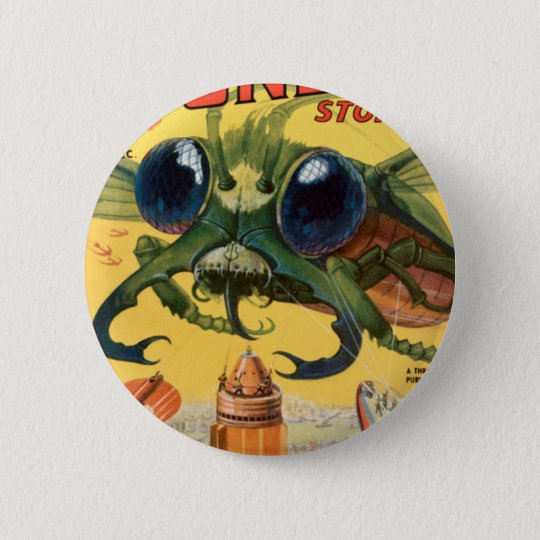Giant Scary Fly 2 Inch Round Button
