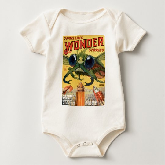Giant Scary Fly Baby Bodysuit