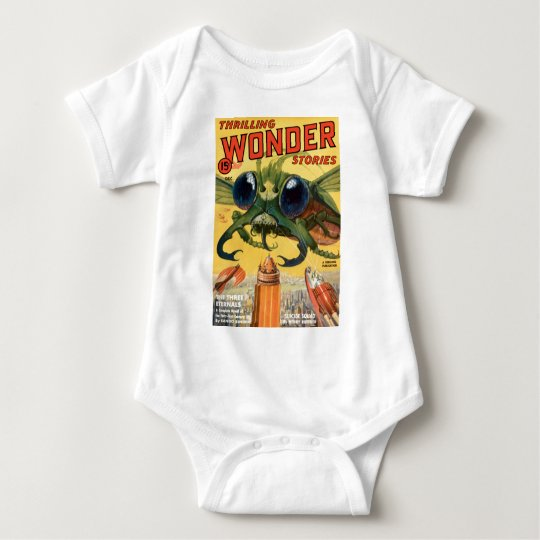Giant Scary Fly Baby Bodysuit