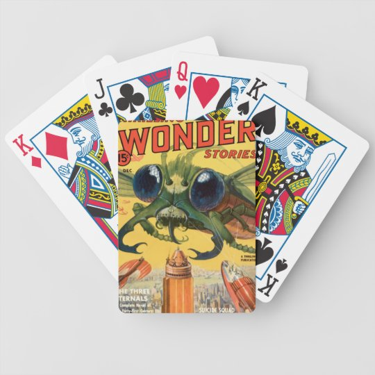 Giant Scary Fly Bicycle Playing Cards