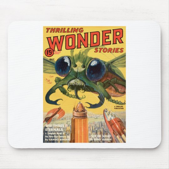 Giant Scary Fly Mouse Pad
