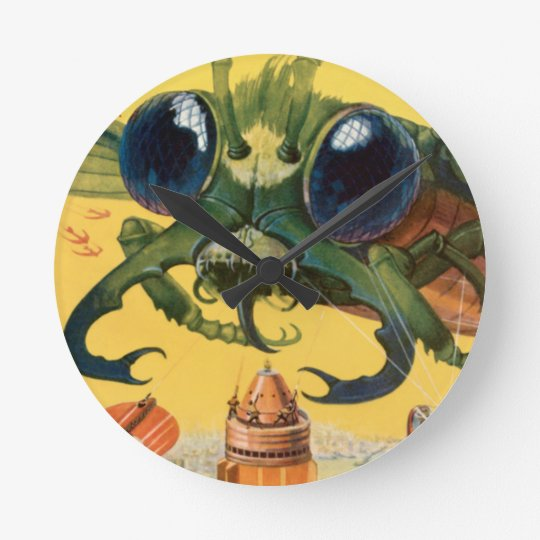 Giant Scary Fly Round Clock