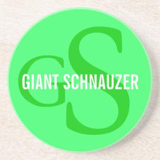 Giant Schnauzer Breed Monogram Coaster