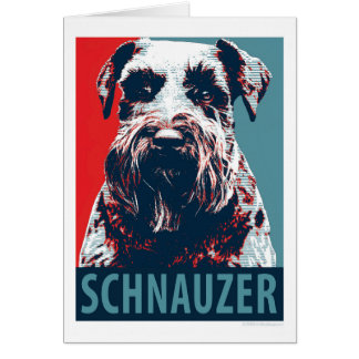 Giant Schnauzer by Hope Dogs Greeting Card