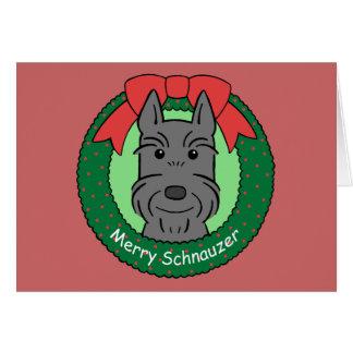 Giant Schnauzer Christmas Stationery Note Card