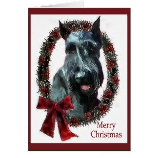 Giant Schnauzer Christmas Gifts Greeting Card
