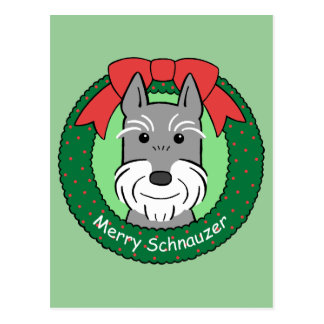 Giant Schnauzer Christmas Postcard