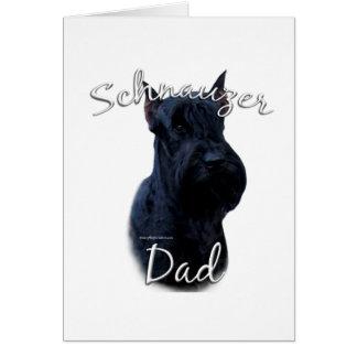 Giant Schnauzer Dad 2 Greeting Card