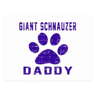 Giant Schnauzer Daddy Gifts Designs Postcard