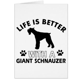 Giant Schnauzer designs Greeting Card