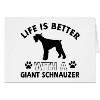 Giant Schnauzer designs Greeting Card