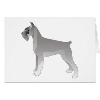 Giant Schnauzer Dog Breed Illustration Silhouette Card