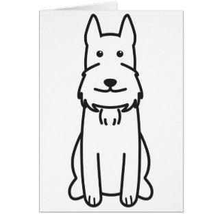 Giant Schnauzer Dog Cartoon Greeting Card