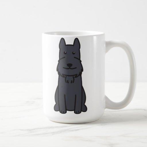 Giant Schnauzer Dog Cartoon Coffee Mugs