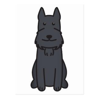 Giant Schnauzer Dog Cartoon Post Card