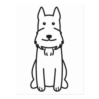 Giant Schnauzer Dog Cartoon Post Cards