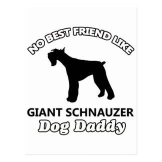 Giant Schnauzer Dog Daddy Postcard