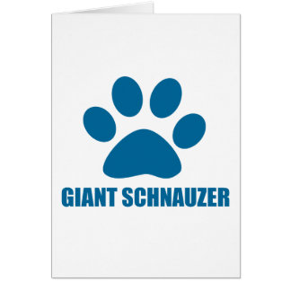 GIANT SCHNAUZER DOG DESIGNS CARD