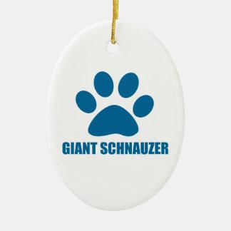 GIANT SCHNAUZER DOG DESIGNS CERAMIC ORNAMENT