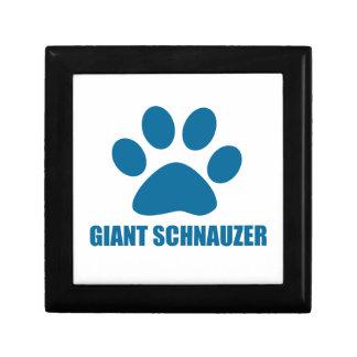 GIANT SCHNAUZER DOG DESIGNS GIFT BOX
