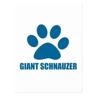 GIANT SCHNAUZER DOG DESIGNS POSTCARD