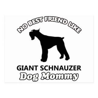 Giant Schnauzer  dog designs Postcard