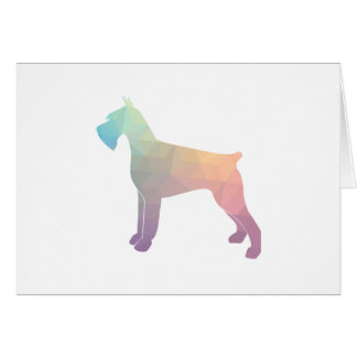 Giant Schnauzer Geometric Pattern Silhouette Greeting Card